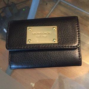 Black MK zip coin pouch